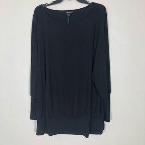 NEW Lane Bryant Black Top 3/4 Sleeves Size 22/24